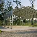 Regular style, triple wide, carport truss #2 with one sheet on sides